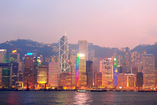 Hong Kong • Victoria Habor • Sunrise • Morning • Skyscrapers • Winterhawk Consulting • SAP • GRC • Services • Contact us • E-mail us