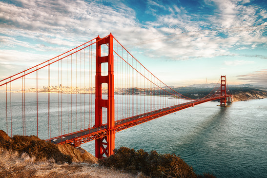 Golden Gate Bridge, San Francisco • Sunrise • Sunset • USA • Winterhawk Consulting • SAP • GRC • Services • Contact us • Email us